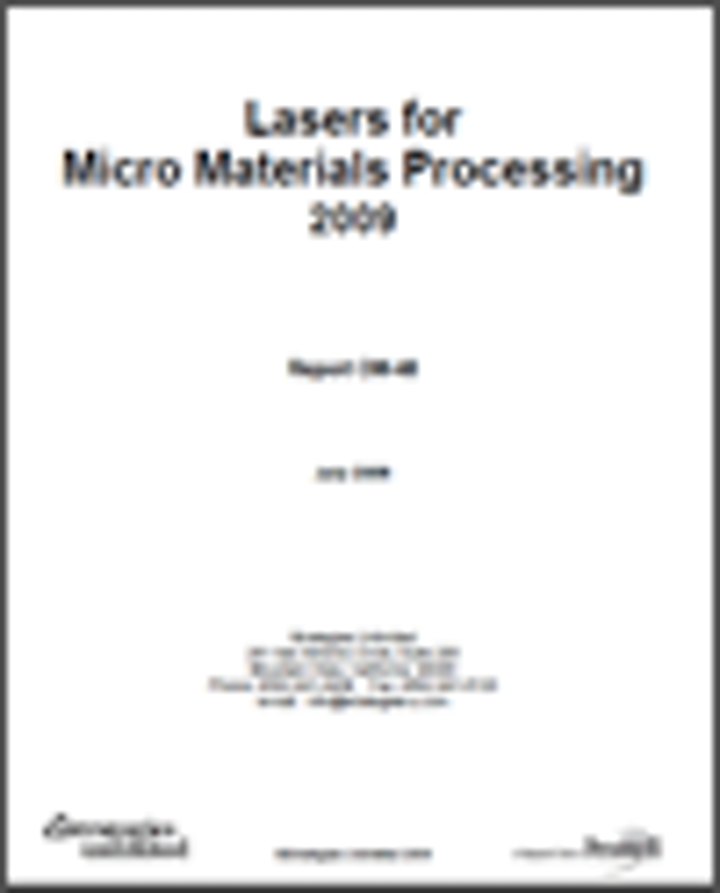 Lasers for Micro Materials Processing